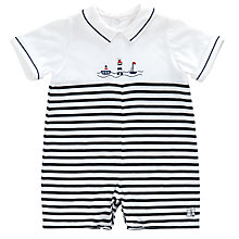 Buy Emile et Rose Baby Hester Stripe Playsuit, Navy/White Online at johnlewis.com