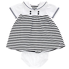 Buy Emile et Rose Baby Jersey Sailor Dress Set, Blue/White Online at johnlewis.com
