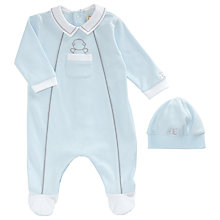 Buy Emile et Rose Baby Hank Sleepsuit and Hat Set, Blue Online at johnlewis.com