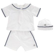 Buy Emile et Rose Baby Gideon Sailor Set and Hat, White/Navy Online at johnlewis.com
