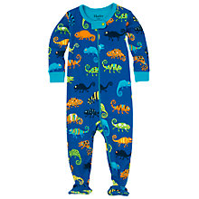 Buy Hatley Baby Crazy Chameleon Sleepsuit, Blue Online at johnlewis.com