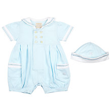 Buy Emile et Rose Baby Harley Sailer Romper Set, Blue/White Online at johnlewis.com