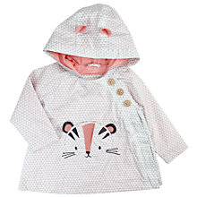 Buy John Lewis Baby 3D Cat Character Coat, Grey/White Online at johnlewis.com