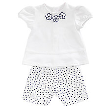 Buy Emile et Rose Hayley Flower Top and Trouser Set, White Online at johnlewis.com