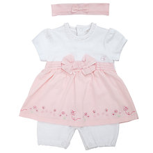 Buy Emile et Rose Baby Hariet Dress and Bloomers Romper Set, Pink Online at johnlewis.com