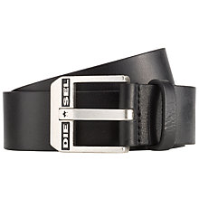 Buy Diesel Bluestar Cintura Leather Belt, Black Online at johnlewis.com