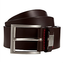 Buy HUGO by Hugo Boss C-Connio Leather Belt, Brown Online at johnlewis.com