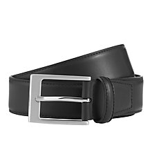 Buy John Lewis Classic Leather Belt, Black Online at johnlewis.com