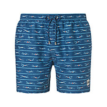 Buy BOSS Piranha Print Swim Shorts, Blue Online at johnlewis.com