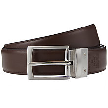 Buy John Lewis Reversible Leather Belt, Black/Brown Online at johnlewis.com