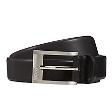 Buy HUGO Brandon Leather Belt, Black Online at johnlewis.com