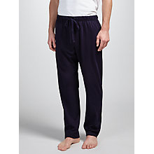 Buy John Lewis Jersey Cotton Pyjama Bottoms, Navy Online at johnlewis.com