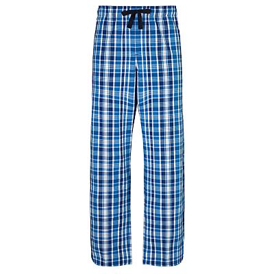 John Lewis Tonal Check Pyjama Bottoms, Blue