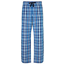 Buy John Lewis Tonal Check Pyjama Bottoms, Blue Online at johnlewis.com