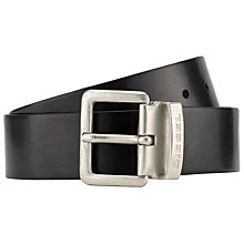 Buy Diesel Beres Leather Belt, Black Online at johnlewis.com