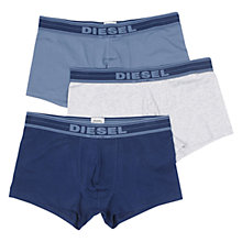 Buy Diesel Shawn Denim Trunks, Pack of 3, Blue/Grey/Navy Online at johnlewis.com