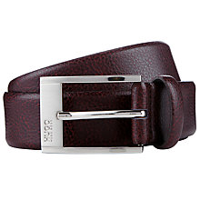 Buy BOSS C-Ellot Leather Belt, Dark Brown Online at johnlewis.com