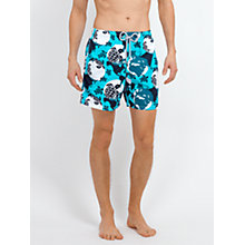 Buy Vilebrequin Moorea Earth Turtle Swim Shorts, Turquoise Online at johnlewis.com