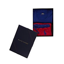 Buy Polo Ralph Lauren No.3 Jersey Pyjama Gift Box, Sporting Royal/Jewel Red Online at johnlewis.com