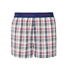 Buy Calvin Klein Underwear Mason Check Boxers, Red Online at johnlewis.com