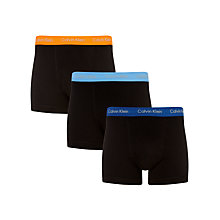 Buy Calvin Klein Underwear Coloured Waistband Trunks, Pack of 3 Online at johnlewis.com
