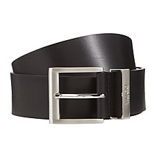 Buy HUGO by Hugo Boss Bud Leather Belt, Black Online at johnlewis.com