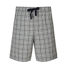 Buy John Lewis Tony Check Lounge Shorts, Grey Online at johnlewis.com