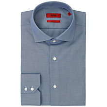 Buy HUGO Gordon Regular Fit Cotton Shirt, Bright Blue Online at johnlewis.com