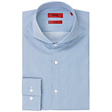 Buy HUGO Dwayne Slim Fit Shirt, Bright Blue Online at johnlewis.com