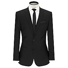 Buy HUGO Huge/Genius Virgin Wool Slim Fit Suit Jacket, Black Online at johnlewis.com