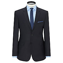 Buy HUGO James Textured Wool Regular Fit Suit Jacket, Dark Blue Online at johnlewis.com