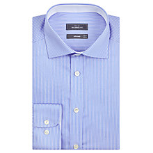 Buy John Lewis Fine Twill Stripe Tailored Fit Shirt, Blue Online at johnlewis.com