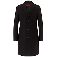 Buy HUGO Stratus Coat, Black Online at johnlewis.com