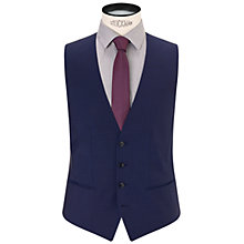 Buy HUGO Wilson Wool Waistcoat, Mid Blue Online at johnlewis.com