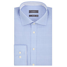 Buy John Lewis Fine Graphic Check Tailored Fit Shirt, Plum Online at johnlewis.com