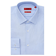 Buy HUGO Joey Micro Design Slim Fit Shirt, Light Blue Online at johnlewis.com
