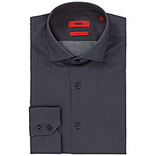 Buy HUGO Gordon Regular Fit Cotton Shirt, Black Online at johnlewis.com