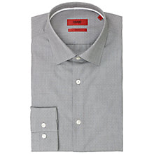 Buy HUGO Joey Slim Fit Shirt, Dark Grey Online at johnlewis.com