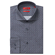 Buy HUGO Jason Geometric Print Slim Fit Shirt, Dark Blue Online at johnlewis.com