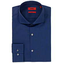 Buy HUGO Jason Slim Fit Cotton Shirt, Navy Online at johnlewis.com