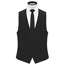 Buy HUGO Wilson Virgin Wool Slim Fit Waistcoat, Black Online at johnlewis.com