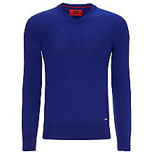 Buy HUGO Sacaralio V-Neck Merino Wool Jumper Online at johnlewis.com