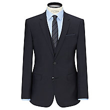Buy HUGO Huge/Genius Virgin Wool Slim Fit Suit Jacket, Dark Blue Online at johnlewis.com