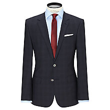 Buy HUGO Hutson/Gander Prince of Wales Check Slim Fit Suit, Dark Blue Online at johnlewis.com