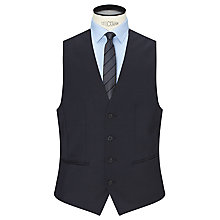 Buy HUGO Wilson Virgin Wool Slim Fit Waistcoat, Dark Blue Online at johnlewis.com