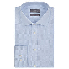 Buy John Lewis End-on-End Dot Print Tailored Fit Shirt, Blue Online at johnlewis.com