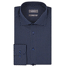 Buy John Lewis Geo Flower Regular Fit Shirt, Navy Online at johnlewis.com