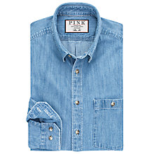 Buy Thomas Pink Nash Slim Fit Denim Shirt, Pale Blue Online at johnlewis.com