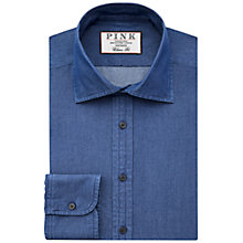 Buy Thomas Pink Caldicot Plain Classic Fit XL Sleeve Shirt, Navy Online at johnlewis.com