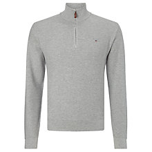Buy Gant Honeycomb Half Zip Cotton Jumper Online at johnlewis.com